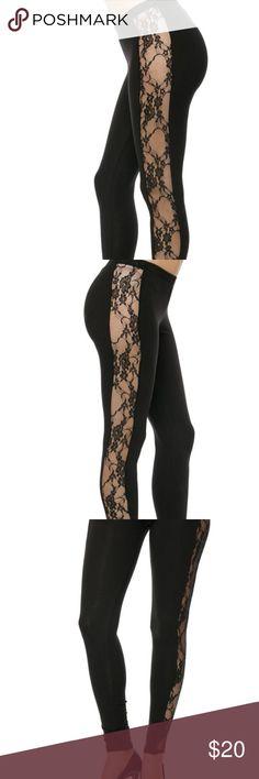 Side Lace Leggings Sexy side lace leggings! 95% Cotton 5% Spandex Bozzolo Pants Leggings