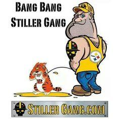 Pittsburg steelers peeing on cincinnati bengals sorry