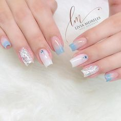 ✔ most sexy and trendy prom and wedding acrylic nails and matte nails for this season 24 Gelish Nails, Matte Nails, My Nails, Manicure, Wedding Acrylic Nails, Cute Acrylic Nails, Nail Picking, Baby Pink Nails, Pretty Nail Art