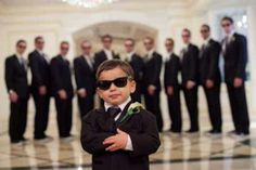 Cute, but groomsmen need to be closer