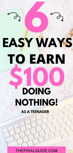 Want to know to make money as a teen or 14 to 18 year old teenager? These are all legit ways to make extra money for teens or college students who want to work from home part time. You could earn up to $100 in extra cash per work. Some money making ideas are fast and free whereas others require more effort for more money. Read more on how to make money online for beginners, side hustle ideas, and online jobs for teens by clicking the link.