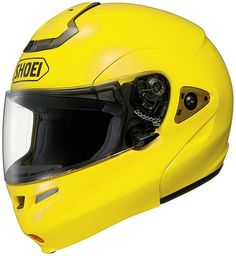 #Shoei_Multitec (Brilliant Yellow) is the standard in motorcycle helmets, offering the greatest versatility and convenience of #motorcycle_helmets. Get yours at HelmetCity.com.