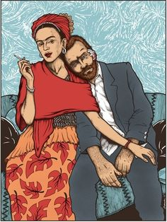 Frida and Vincent by Jermaine Rogers | I think they would have been great friends.