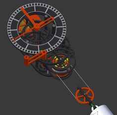 3D printed mechanical Clock with Anchor Escapement (STL files) by ToScH.