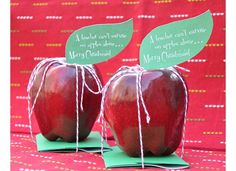 Because a teacher can't survive on apples alone...gift card idea...