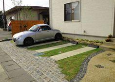 駐車場 芝生 施工例