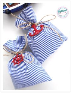 Marine temalı düğünlere özel lavanta keseleri www.myminni.com