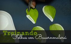 Treinando folhas em Bauernmalerei