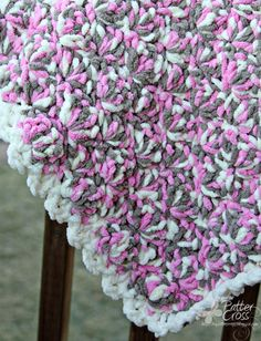Triple the Scraps: Another {Crochet} Lap Blanket