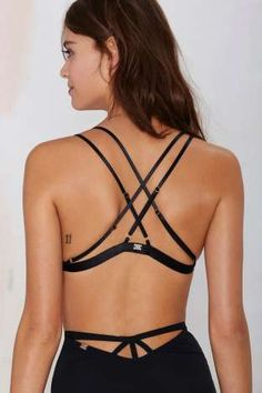 SKIVVIES Delicate Bondage Bra | Shop Clothes at @nastygal - black and strappy for evening looks.