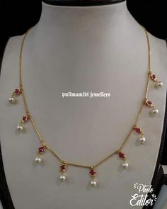 49 Ideas jewerly gold necklace collars for 2019 Gold Necklace Simple, Gold Jewelry Simple, Rose Gold Jewelry, Bridal Jewelry, Indian Gold Necklace, Indian Bangles, Ruby Necklace, Short Necklace, Pearl Jewelry
