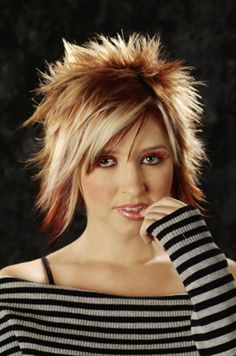 long in front but spiked in back young girl hairstyles