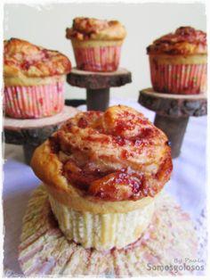 Receta. Cup rolls de brioche, fresa y queso / Recipe. Cup of brioche rolls, strawberry and cheese. Blog Somosgolosos