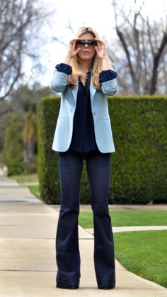 I love this Monochromatic look! All over blues!