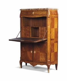 A FRENCH ORMOLU-MOUNTED TULIPWOOD AND ROSEWOOD SECRETAIRE A ABATTANT -  OF LOUIS XV STYLE, 20TH CENTURY