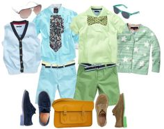 """Handsome in Spring: All Dressed Up in Shades of Blue & Green"" by boysbecool on Polyvore"