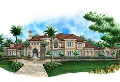 Mediterranean Mansion: Attached Garage: 5 Car, 1,961 sq. ft. Bedrooms: 5 Full Bathrooms: 5+ Half Bathrooms: 4