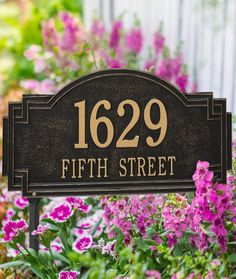 Showcase your address in style with the Willow Address Plaque. Constructed of sturdy cast aluminum with a fused powdercoated finish to withstand the elements, this plaque can be emblazoned with up to five characters on the first line and up to 16 on the second line.