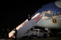 Earlier on Sunday evening, Trump deplaned Air Force One after it landed at Andrews Air Force Base in Maryland