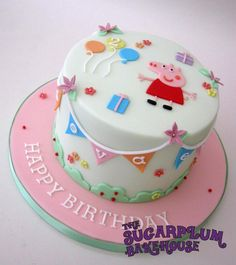 Cute Simple Peppa Pig Birthday Cake - Cake by Sam Harrison