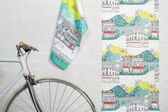 Yorkshire tea towel 100% cotton tea towel by jessicahogarth