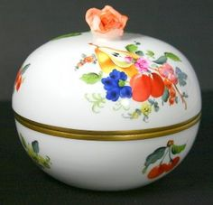 Herend Fruits and Flowers Round Covered Bonbon with Rose for $249.99