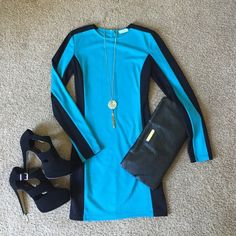 Tobi long sleeve dress Never worn. Size: small. The black sides compliments all body types. Fits like a bodycon dress. Tobi Dresses Long Sleeve