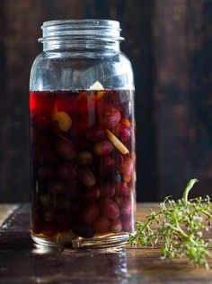 Pickled grapes.