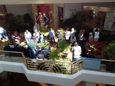 Attendees starting to file in at the Southern California Spring Garden Show at South Coast Plaza.