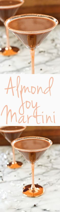 Almond Joy Martini with Chocolate Coconut Water