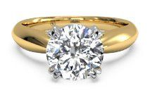Solitaire Diamond Tulip Cathedral Engagement Ring – 7242 | Ritani Wedding and Engagement Rings