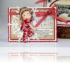 Sitting Angel Tilda, Merry Little Christmas, Magnolia stamps