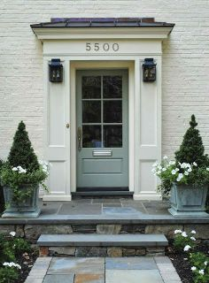 Lovely Curb Appeal ~ Trend Watch: Painted Brick Exteriors | LaceFieldDesigns.blogspot.com