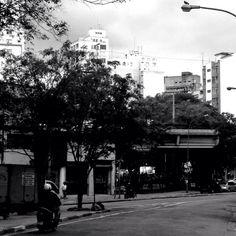 Foto tirada do Minhocão, na região do Arouche, no centro de São Paulo.