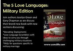 Love Languages Military Edition & Military Spouse Journey Interviews. It's a #giveaway of 5 books!  Listen to our interview with Jocelyn Green and Gary Chapman. This book helps #military couples heal broken relationships and strengthen healthy #relationships.