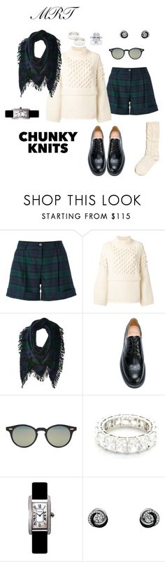 """Blackwatch walk"" by meesh57 ❤ liked on Polyvore featuring P.A.R.O.S.H., Pringle of Scotland, Polo Ralph Lauren, Church's, Thom Browne, Harry Winston and Cartier"