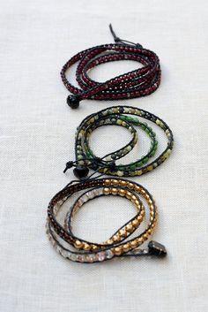 tutorial wrap bracelets from tentenknits