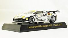 Original Kyosho 1/64 Lamborghini Murcielago R-GT Team / JLOC Race Car Style (White) (japan import) Mini Diecast Sport Car Figure