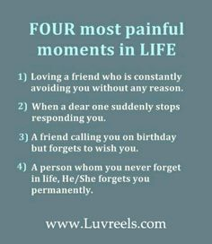 Four painful moments