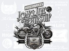 Miller High Life & Harley Davidson Artist Series Cans