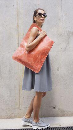 Nueva edición limitada loco salmón bolso del cuero por Aakasha
