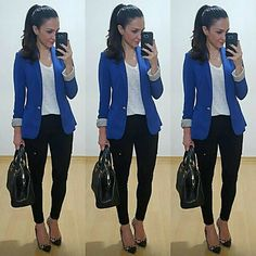 Nice outfit idea to copy ♥ For more inspiration join our group Amazing Things ♥ You might also like these related products: - Blazers & Suit Jackets ->. Casual Work Outfits, Blazer Outfits, Business Casual Outfits, Mode Outfits, Office Outfits, Work Attire, Work Casual, Chic Outfits, Fashion Outfits