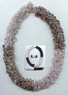 Pattern seed beads gemstones necklace bracelet earrings jewelry tutorial beading netting stitch seed beaded beading netting stitch beadwork