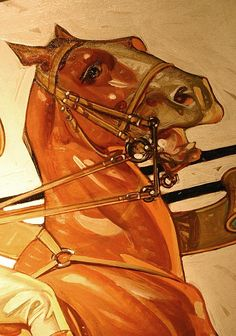 gorgeous drawing of a  horse by J.C. Leyendecker- masterful draftsmanship