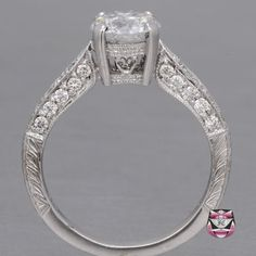 Certified Edwardian 1.42ct D/SI Diamond Engagement Ring