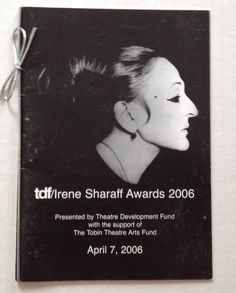 Irene Sharaff Awards 2006 Souvenir Program Booklet Costume Design Designer Book