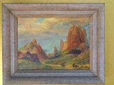 Independent Vintage Pastel Painting Signed Illegibly. Paintings