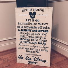 """We+Do+Disney+measures+approximately+30-32""""X18-20""""++and+is+available+in+distressed+white+wood+with+black+hand+painted+lettering.+    OGDS+pieces+come+ready+to+hang+with+hardware+attached+as+well+as+a+""""no+tool  required""""+hanging+hook.+They+are+beautifully+wrapped+and+include+a+gift+tag.    Customer..."""