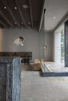 Image 2 of 27 from gallery of HEYTEA Nanning Tea Store / BloomDesign. Photograph by Xiaocong Nie Bistro Design, Coffee Shop Design, Cafe Design, Store Design, Pub Decor, Window Display Design, Hospital Design, Milk Shop, Outdoor Seating Areas
