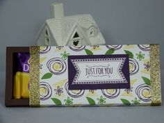 Cadbury's Chocolate Shadow Box for Fathers Day using Stampin' Up supplies - YouTube